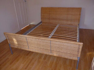 IKEA SUNDNES (double size) Bed with its mattress (VERY CLEAN)