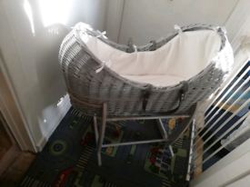 Clair De LuneSilver Lining Noah Pod & Deluxe Rocking Stand £40ono