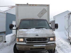 Large Ford cube van in great shape.