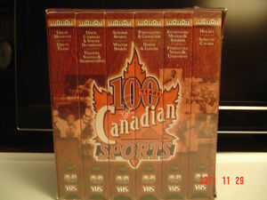 """SPORTS COLLECTOR'S - 6 VHF TAPES -""""100 YEARS OF CANADIAN SPORTS"""""""
