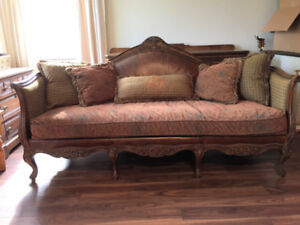 Chintz and Co Antique style sofa and armchair