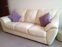 3 and 2 seater leather sofa's