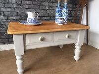 Stunning Solid Pine Shabby Chic, Painted Coffee Table / TV Cabinet - Can Deliver