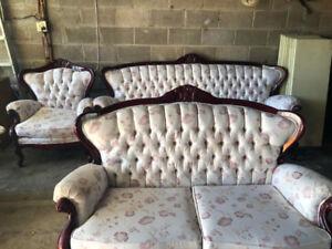 ANTIQUE three- piece living room set