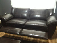 2 - Leather Reclining Couches for Sale