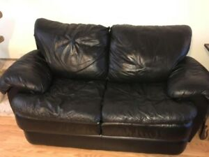 Matching Faux Leather Couches 200 obo