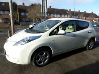 2013 Nissan Leaf E ( 80kw ) ( 24kWh ) Auto 5DR 63 REG Electric White