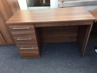 Wood Desk with 3 Drawers