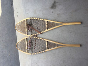 Wooden snowshoes (with bindings) for sale