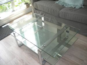 coffee table $100 ($650; added custom mirror $100). very heavy!
