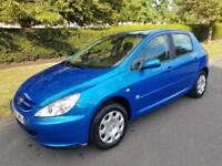 PEUGEOT 307 1.4 16v (A/C) ZEST - 5 DOOR - 2004 - BLUE **LOW MILES**