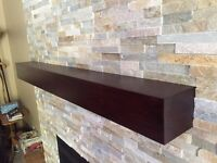 Custom Built Wood Beam Mantles