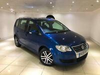 2009 VOLKSWAGEN TOURAN 1.9 TDI SE 6 SPEED MANUAL 7 SEATER BLUE NEW SHAPE FSH