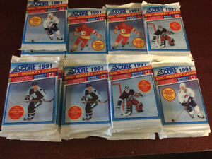 36 1991-92 SCORE BILINGUAL SERIES 2 HOCKEY CARDS PACKS