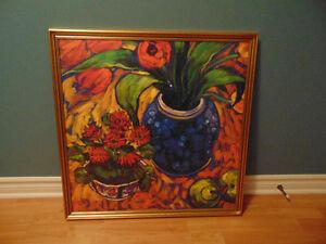 Colorful Modern, Impressionist, Art Deco Framed Print