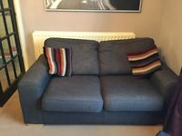 2 seater sofa bed and arm chair
