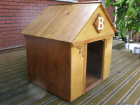 """Home-made, Wooden Dog House with letter """"B"""""""