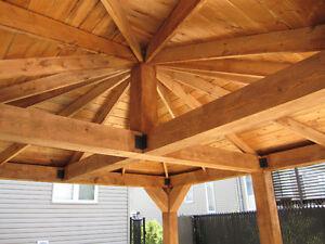 pergola,gazebo en bois massif ou bois traité .