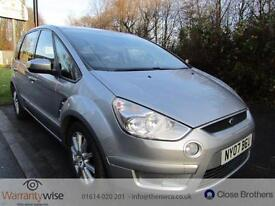 FORD S-MAX ZETEC TDCI, Silver, Auto, Diesel, 2007, GREAT SERVICE HISTORY
