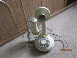 Deco-Tel Princess Candlestick Telephone with Rotary Dial