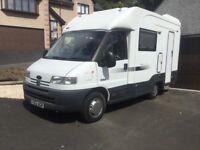 Autocruise Starfire 2 berth motorhome camper van . Peugeot boxer based