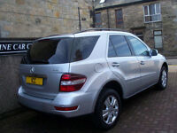 08 58 REG MERCEDES ML280 3.0 DIESEL SPORT SE AUTO LOW MILEAGE+ HEATED LEATHER