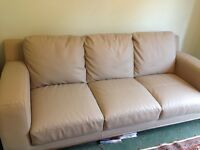 White 3 Seatef Sofa *negotiable* RRP £600