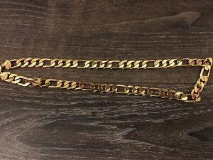 18k Gold Men's Box Necklace For Sale