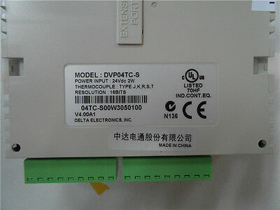 Delta Plc Dvp04tc-s 4 Channel K J Type Thermocouple Module New Original