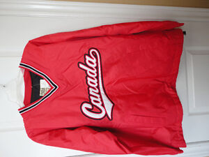 Steve and Barry's red fleece lined winter jacket hockey clothing London Ontario image 8