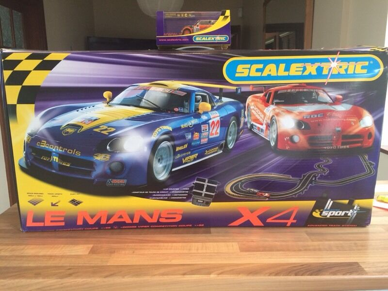 scalextric le mans x4 in newtownabbey county antrim gumtree. Black Bedroom Furniture Sets. Home Design Ideas