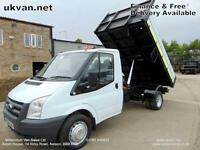 2008 08 FORD TRANSIT TIPPER, DROPSIDE, FORMER COUNCIL OWNED, SENSIBLE MILES,