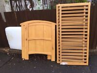 PINE WOOD COT WITH MATTRESS IF WANTED ** FREE DELIVERY ***