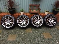 "18"" Riva DTM Alloys & Tyres ""Brand New"" BMW Mini, MG Rover, Vauxhall, Renault etc"