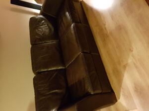 Chocolate Brown leather couch