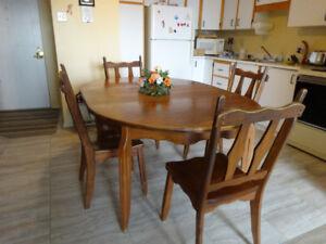 Table et chaise à vendre 100$ négociable