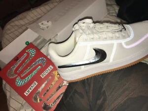 Travis Scott Air Force 1's Size 10.5