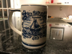 Hand painted beer mug (hand painted by DELFT Holland)