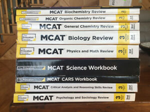 Princeton Review MCAT (new!) books - 10 books 2nd / 3rd edition