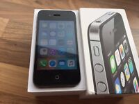 Unlocked iPhone 4s black 8bg excellent condition