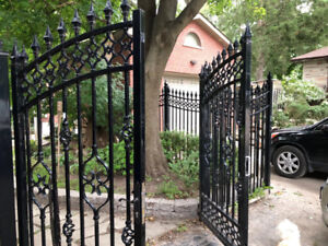 Large Aluminum Fence with 2 door gate, $3800 Or best Offer