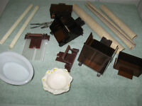 ....Group of Necessary Accessories for Your Bird Cage