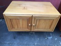 Vintage retro blonde Ercol style wooden Tv cabinet sideboard hair pin legs mid century