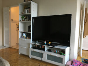 IKEA TV Bench with Shelving Unit