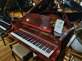 Reid sohn SG-185 baby grand piano walnut polyester for sale