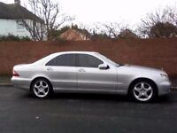Mercedes Benz S class diesel auto silver 2002 private plate