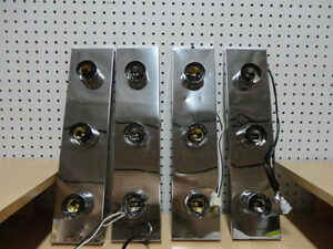 Selling 4 Chrome 3 Bulb Wall Strip Fixtures -In Reasonable Shape