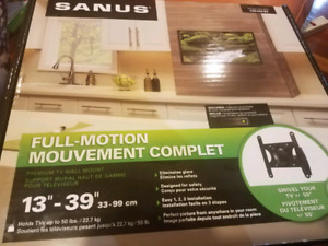 "Premium SANUS Full Motion TV Mount For 13""-39"" Screens"