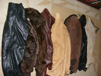 SELLING AS 1 LOT - LEATHER/FUR/FAUX - JACKETS/SKIRT