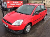 FORD FIESTA 1.3 (03) 6 MONTH MOT, WARRANTY, 89000 MILES £695